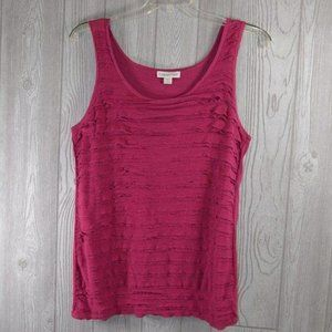 Coldwater Creek Pink Ruffled Top Large 14-16